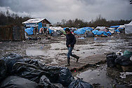 The Grande Synthe camp, partialy flooded, France. FEDERICO SCOPPA/CAPTA