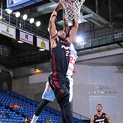 Sioux Falls Skyforce Guard A.J. Davis (23) attempts to dunks the ball as Delaware 87ers Forward Victor Rudd (23) block the shot in the Second half of a NBA D-league regular season basketball game between the Delaware 87ers and the Sioux Falls Skyforce (Miami Heat) Tuesday, Jan. 27, 2015 at The Bob Carpenter Sports Convocation Center in Newark, DEL