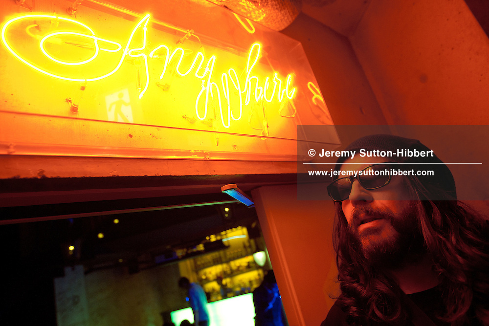 Ian Astbury, lead singer with The Cult, at a bar in 'WWW' club, prior to his singing as part of 'BXI'- a musical collaboration with Japanese band 'Boris', in the 'WWW' club in Shibuya district of Tokyo, Japan, Sunday 28th November 2010.