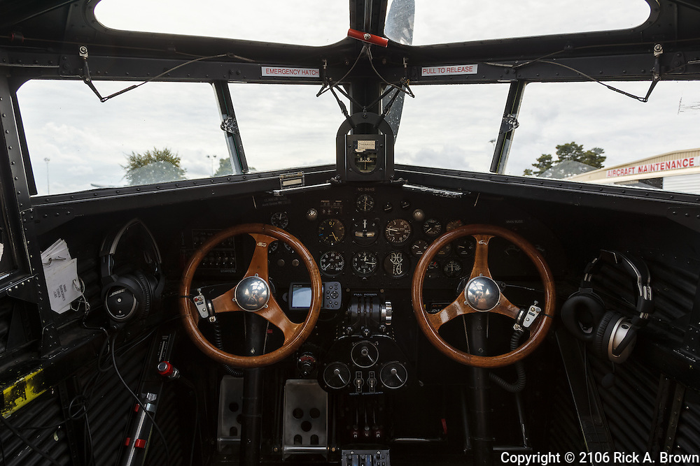 Cockpit of Ford Trimotor.