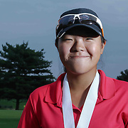 Esther Park of Wilmington, DE, poses a photo after winning the girls 2015 Delaware junior championship at Chesapeake Bay Golf Club Thursday, July 03, 2015, in Rising Sun, Maryland.