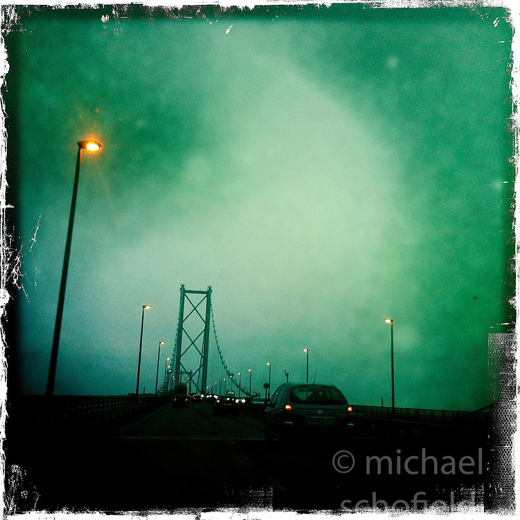 Forth Road Bridge..Hipstamatic images taken on an Apple iPhone..©Michael Schofield.