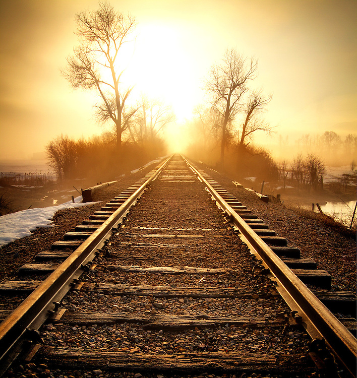 Railroad Tracks Sunrise - Landscape Photography | Clint ...