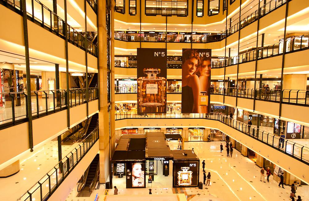 SHANGHAI - DEC 1: Chanel N°5 stand at Isetan shopping mall in  Shanghai, on DEC 1, 2010.