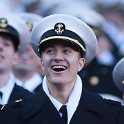 Navy Midshipmen is all smile in the stand late in the first quarter of the 112th version of this storied rivalry Saturday, Dec. 10, 2011 at Fed EX field in Landover Md. ..Navy set the tone early in the game as Navy defeats Army 31-17 in front of 82,000 at Fed EX Field in Landover Md