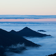Sunrise in the Andes Mountains, Wayqecha Cloud Forest Biological Station, Andes Mountains, Peru