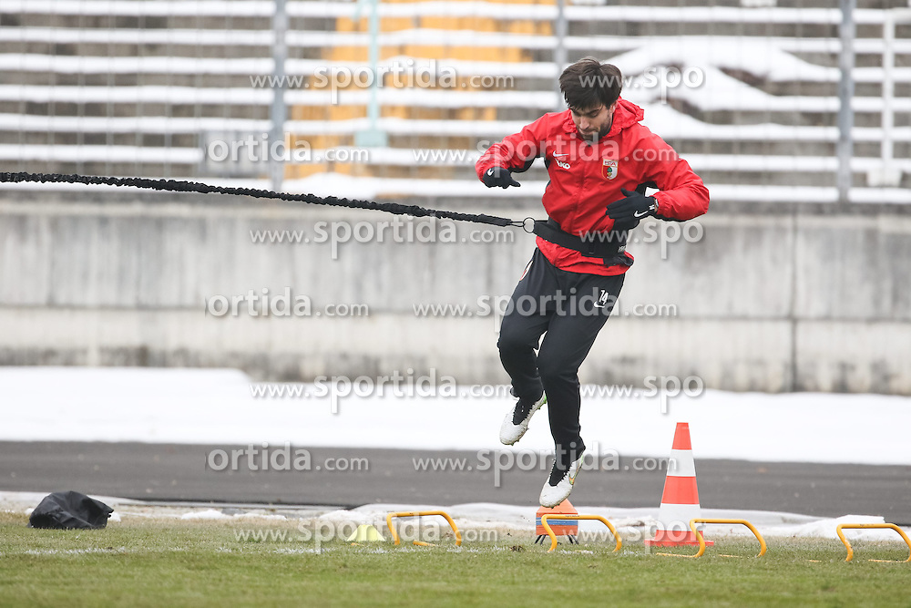 17.02.2015, Trainingsgel&auml;nde, Augsburg, GER, 1. FBL, FC Augsburg, Training, im Bild Jan Moravek (FC Augsburg #14), beginnt mit dem Training nach langer Verletzungspause, // during a trainingssession of the german 1st bundesliga club FC Augsburg at the Trainingsgel&auml;nde in Augsburg, Germany on 2015/02/17. EXPA Pictures &copy; 2015, PhotoCredit: EXPA/ Eibner-Pressefoto/ Krieger<br /> <br /> *****ATTENTION - OUT of GER*****