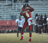 Lafayette High's Brandon Mack (4) makes a touchdown catch vs. Greenwood High in MHSAA playoff action in Oxford, Miss. on Friday, November 11, 2011. Lafayette High won 53-8.