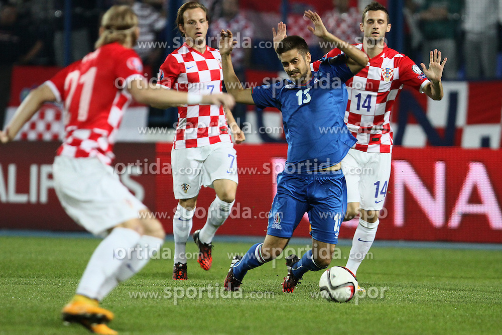 13.10.2014, Stadion Gradski vrt, Osijek, CRO, UEFA Euro Qualifikation, Kroatien vs Aserbaidschan, Gruppe H, im Bild Dmitri Nazarov. // during the UEFA EURO 2016 Qualifier group H match between Croatia and Azerbaijan at the Stadion Gradski vrt in Osijek, Croatia on 2014/10/13. EXPA Pictures &copy; 2014, PhotoCredit: EXPA/ Pixsell/ Marko Mrkonjic<br /> <br /> *****ATTENTION - for AUT, SLO, SUI, SWE, ITA, FRA only*****
