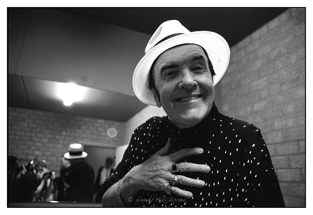 Belgian singer and self-proclaimed 'Voice of Europe' Eddy Wally backstage after a concert. Considered 'camp' and 'kitsch' he is know for his flashy outfits on stage. Hoogstraten, Belgium, 2005