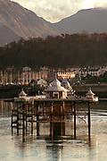 Available as unlimited A3 &amp; A4 prints only<br /> <br /> Bangor Pier and the Nant Ffrancon Valley as seen from Anglesey