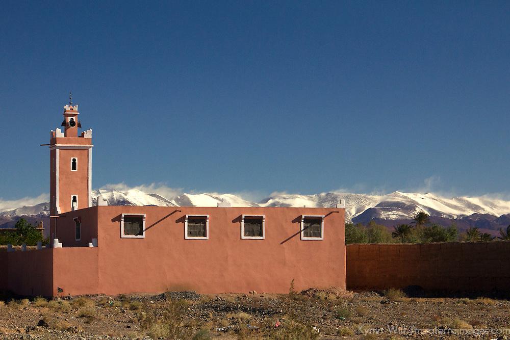 Africa, Morocco, Skoura. Village mosque near Skoura.