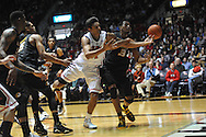 "Mississippi's Sebastian Saiz (11) and Missouri's Johnathan Williams III (3) go for the ball at the C.M. ""Tad"" Smith Coliseum in Oxford, Miss. on Saturday, February 8, 2014. (AP Photo/Oxford Eagle, Bruce Newman)"