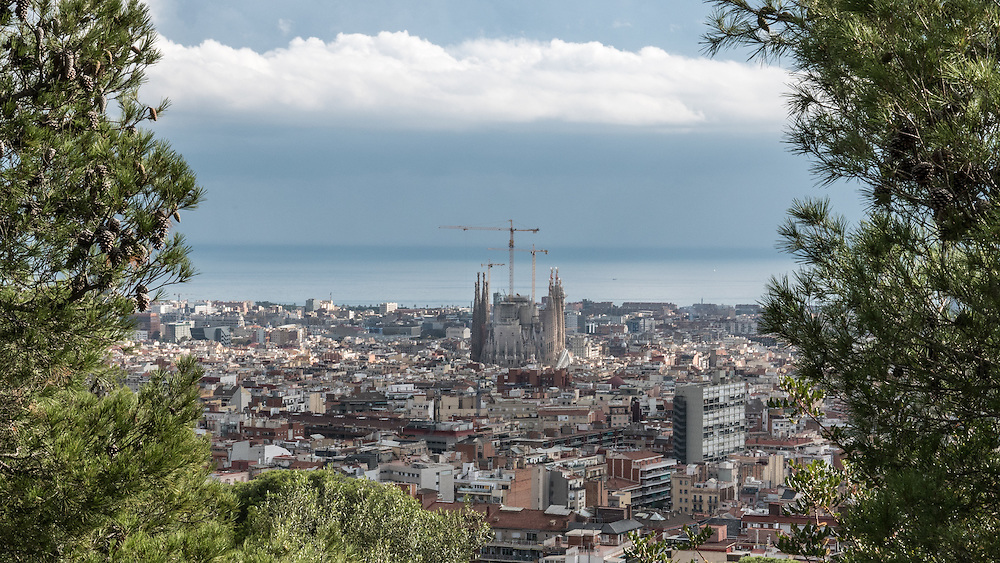 The Park Güell is a public park system composed of gardens and architectonic elements located on Carmel Hill, in Barcelona, Catalonia. Carmel Hill belongs to the mountain range of Collserola – the Parc del Carmel is located on the northern face.