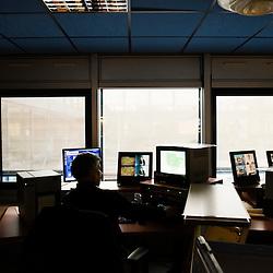 Visite de l'Institut National de l'Audiovisuel (INA) : salle de capture numerique. Bry-Sur-Marne, France. 7 janvier 2010. Photo : Antoine Doyen pour Challenges. Tous droits reserves.
