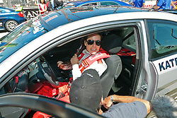LONG BEACH, CA - APR 14:  Mexican super star Actress Kate Del Castillo gets ready for race day at the 2012 Toyota Celebrity/PRO Race in Long Beach, CA. All fees must be ageed prior to publication,.Byline and/or web usage link must  read SILVEX.PHOTOSHELTER.COM . Photo by Eduardo E. Silva