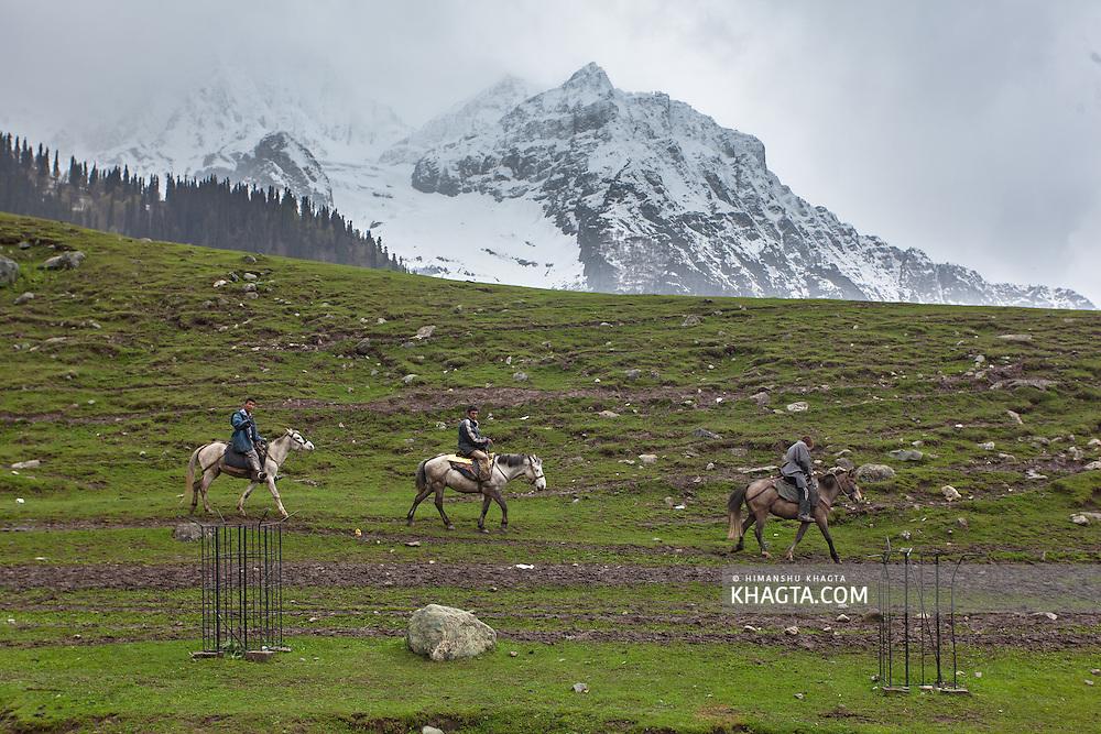 Pony Riders at Sonemarg, Srinagar, Kashmir