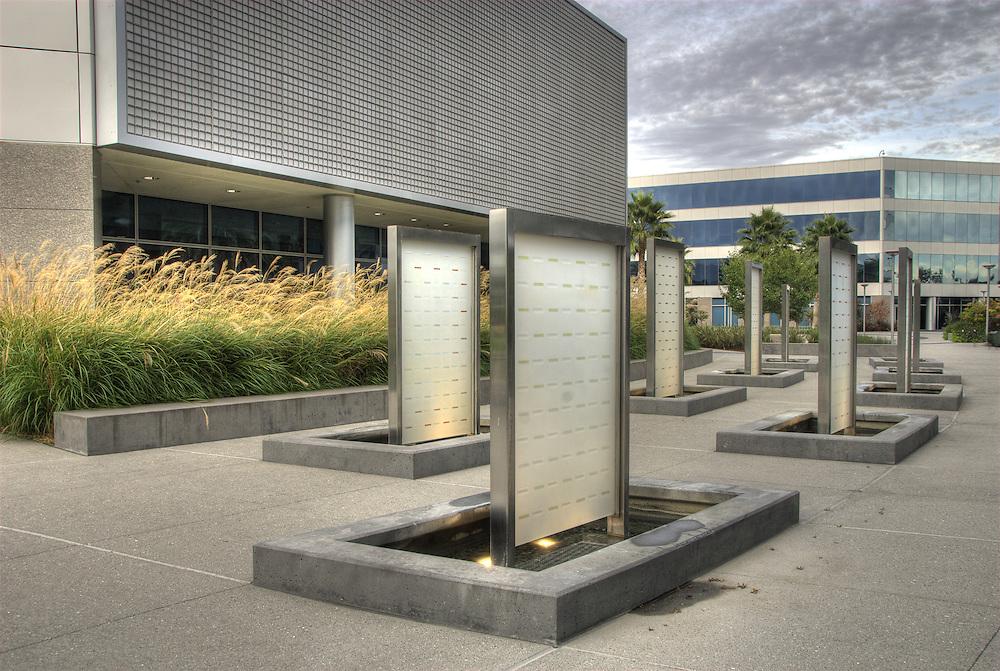 Landscape design elements on the Marvell campus