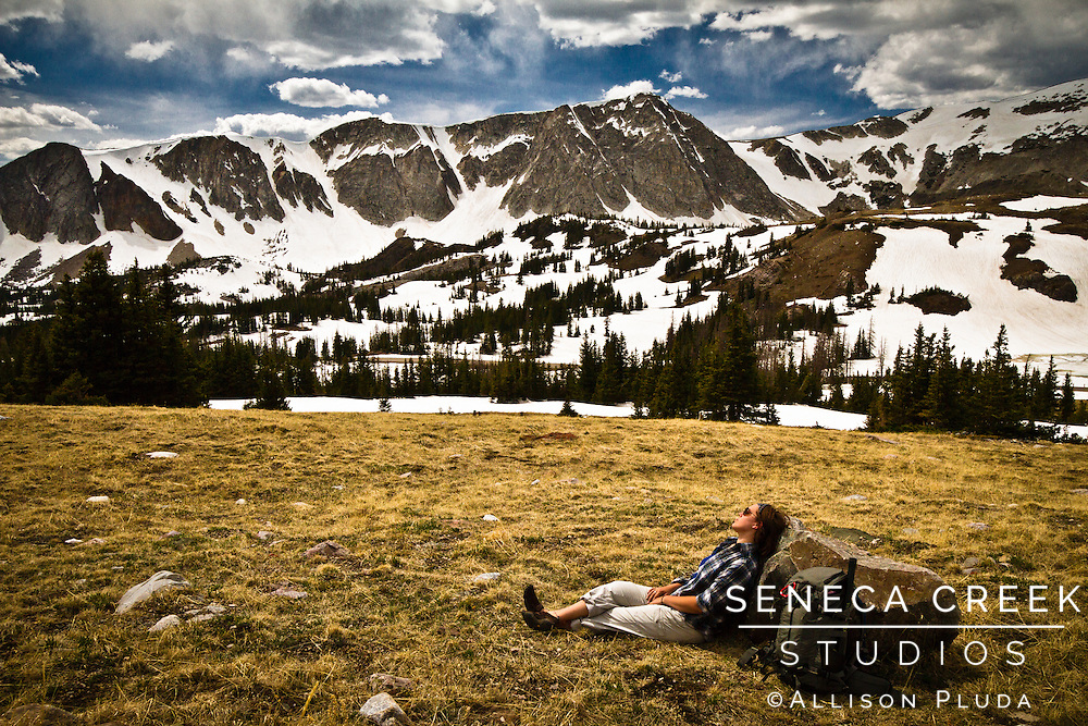 Here's a self portrait of myself on the first day the pass over the Snowy Range Mountains opened for the summer a month earlier than last year. I am so fortunate to have easy access to wild land like this at my fingertips!