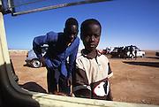 Curious children in Tal Hala in Mauritania
