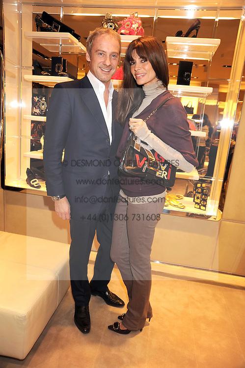 ANTON & LISA BILTON at a party at Roger Vivier, Sloane Street, London on 2nd December 2008.