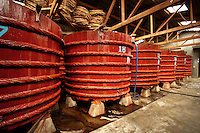 """Besides fishing, fish sauce – a popular form of seasoning in SE Asian food, is an important source of income in Vietnam, especially Phu Quoc and Phan Thiet - makers of """"the good stuff"""".  Giant vats of fish sauce, such as these, are used for fermentation before bottling."""