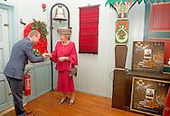 13-11-2014 - ROTTERDAM -  Princess Beatrix of the Netherlands opens Thursday November 13, 2014 the 90th Christmas in the Norwegian Church in Rotterdam netherlands. COPYRIGHT ROBIN UTRECHT