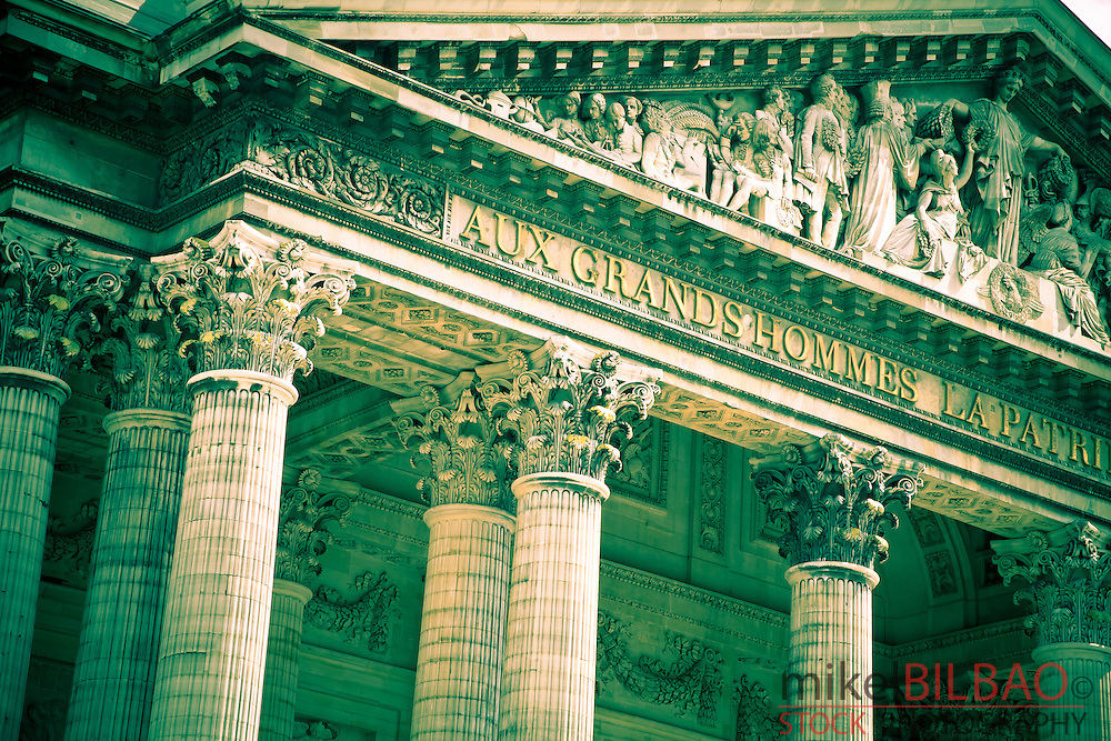 The Pantheon. Latin Quarter, Paris, France, Europe.