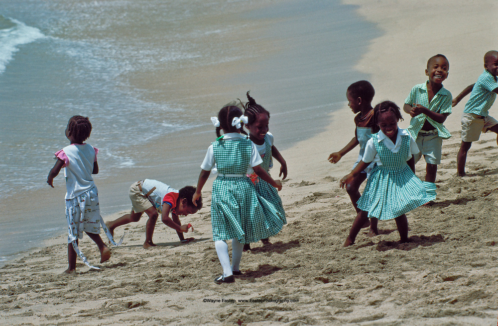 School children playing, Grenada, West Indies