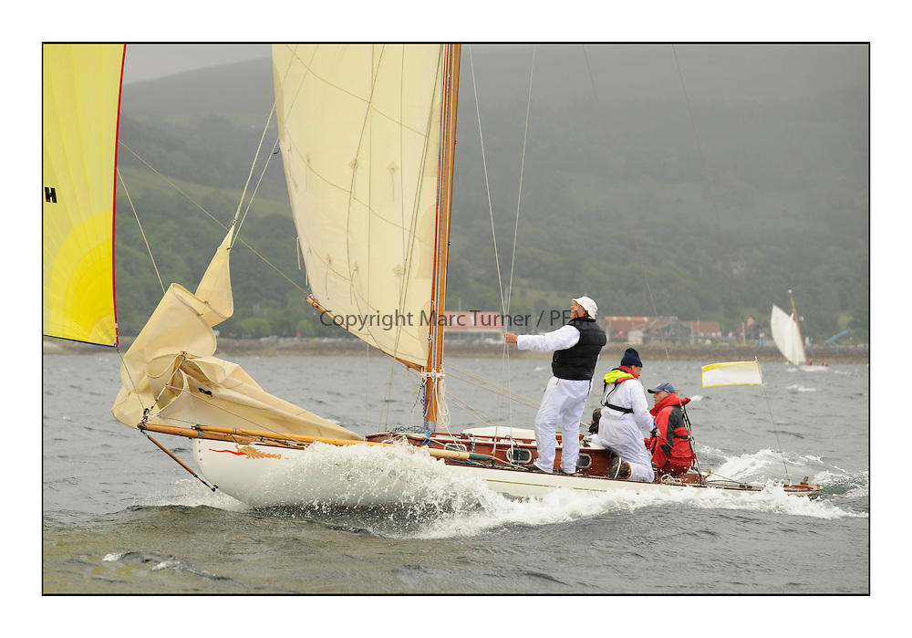 Day two of the Fife Regatta,Passage race to Rothesay.<br /> <br /> Mignon, Bob Fisher, GBR, Bermudan Sloop, Wm Fife 3rd, 1898<br /> <br /> * The William Fife designed Yachts return to the birthplace of these historic yachts, the Scotland&rsquo;s pre-eminent yacht designer and builder for the 4th Fife Regatta on the Clyde 28th June&ndash;5th July 2013<br /> <br /> More information is available on the website: www.fiferegatta.com