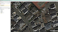 Watching me from the heavens.  Google Earth looks down on my Tokyo house.  Japan.