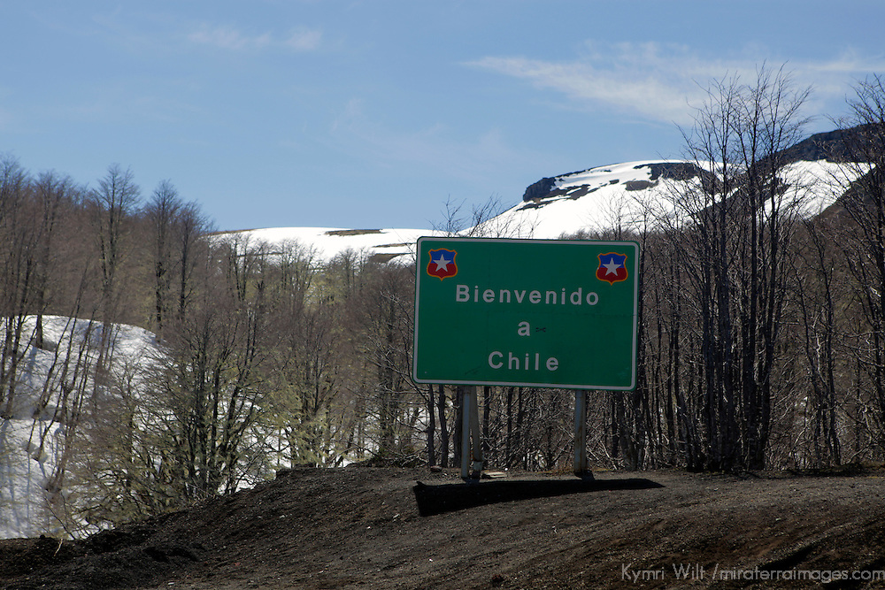 South America, Chile. Scenery along the Seven Lakes Road, crossing the Andes between Argentina and Chile.