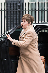 Downing Street, London, March 8th 2016. Leader of the House of Lords, Baroness Tina Stowell arrives for the weekly UK cabinet meeting at Downing Street. &copy;Paul Davey<br /> FOR LICENCING CONTACT: Paul Davey +44 (0) 7966 016 296 paul@pauldaveycreative.co.uk