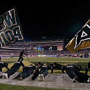 Army Cheerleaders doing push-ups late in the 4th quarter at Lincoln Financial Field in Philadelphia Pennsylvania.