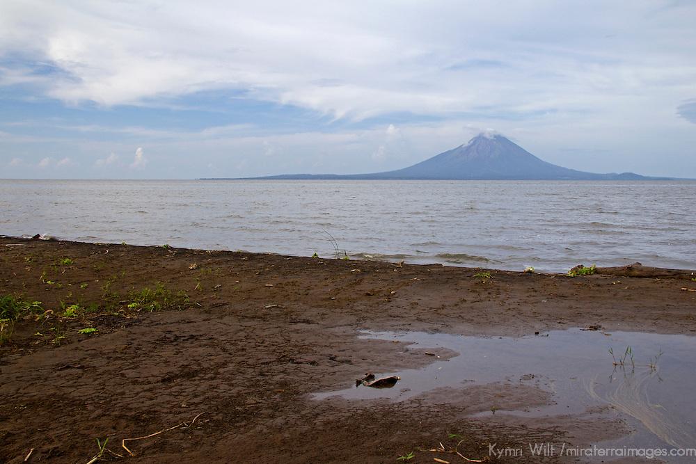 Central America, Nicaragua, Lake Nicaragua.  Concepcion Volcano in Lake Nicaragua.