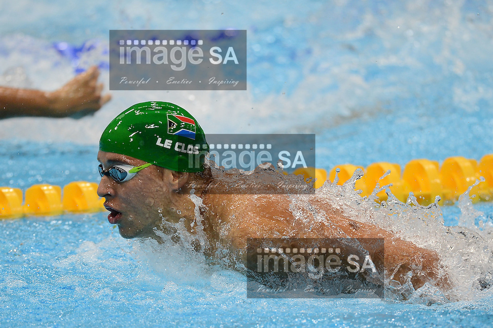 LONDON, ENGLAND - JULY 29, Chad le Clos of South Africa during the Mens 200m butterfly semi final at the Acquatic Centre on July 30, 2012 in London, England.Photo by Roger Sedres / Gallo Images
