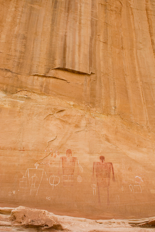 Big Man Anasazi Pictographs on canyon walls of Grand Gulch, Cedar Mesa Utah Bears Ears National Monument