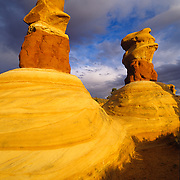 Spectacular hoodoos in Devil's Garden, Grand Staircase Escalante National Monument, Utah.