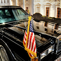 Presidential Limo at George Bush Presidential Library and Museum in College Station, Texas<br /> The president&rsquo;s car is often referred to as Limo One. The Secret Service calls it, &ldquo;The Beast.&rdquo;  The auto is equipped with advance communications, armor plating, defense weapons and a blood bank in the trunk. The typical motorcade includes 45 vehicles. The limo used by George H. W. Bush was a 1989 modified Lincoln Town Car with a Ford F-250 Heavy Duty pickup truck engine. It is on display at the George Bush Presidential Library and Museum in College Station, Texas.