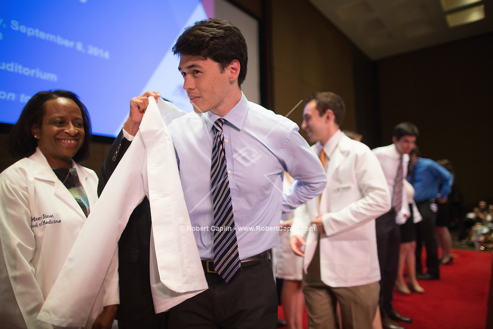 Mount Sinai School of Medicine White Coat Ceremony for First Year Students. <br />  Photo &copy; Robert Caplin