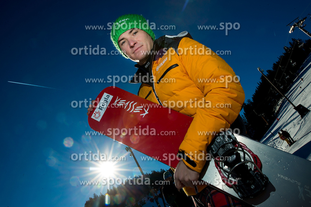 Rok Marguc during training of Snowboarding Team Slovenia prior to the 2015 FIS Freestyle Ski and Snowboard World Championships in Kreischberg (AUT) on January 13, 2015 in Rogla, Slovenia. Photo by Vid Ponikvar / Sportida
