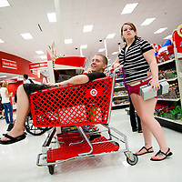 SARASOTA, FL -- November 25, 2011 -- (PHOTO / CHIP LITHERLAND) -- Shoppers pack the Super Target on University Avenue for the Black Friday deals in Sarasota, Fla., early on Friday, November 25, 2011.  The chain has joined many other stores opening at midnight on Thanksgiving Day with door buster deals that attract hundreds of wallets and lines around the block.