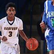 Sanford Warriors Guard MIKEY DIXON (3) dribbles the up the floor in the first half of a Boys Basketball DIAA State Tournament Finals match between the Sanford Warriors and the St. Georges Hawks Saturday, Mar. 12, 2016, at The Bob Carpenter Sports Convocation Center in Newark, DEL.