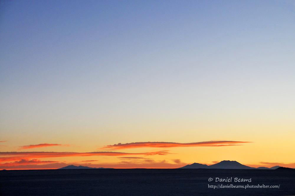 Sunset on the Salar de Uyuni, Bolivia