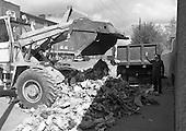 1986 - The Irish Army Removes Refuse In Dublin.