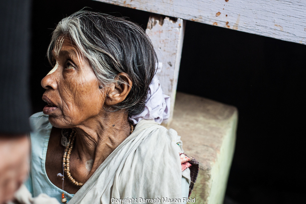 Dasi aged 70 from Kasibur, she has been living as a widow in Vrindavan for 15 years.  While I photographed her, she was loudly reproached by a male passer by for talking to a forienger.