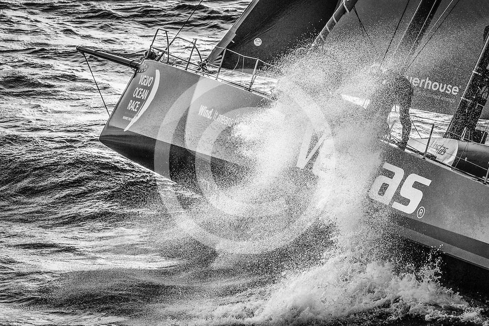November 19, 2014. Start of Leg 2 from Cape Town to Abu Dhabi: Team Vestas Wind