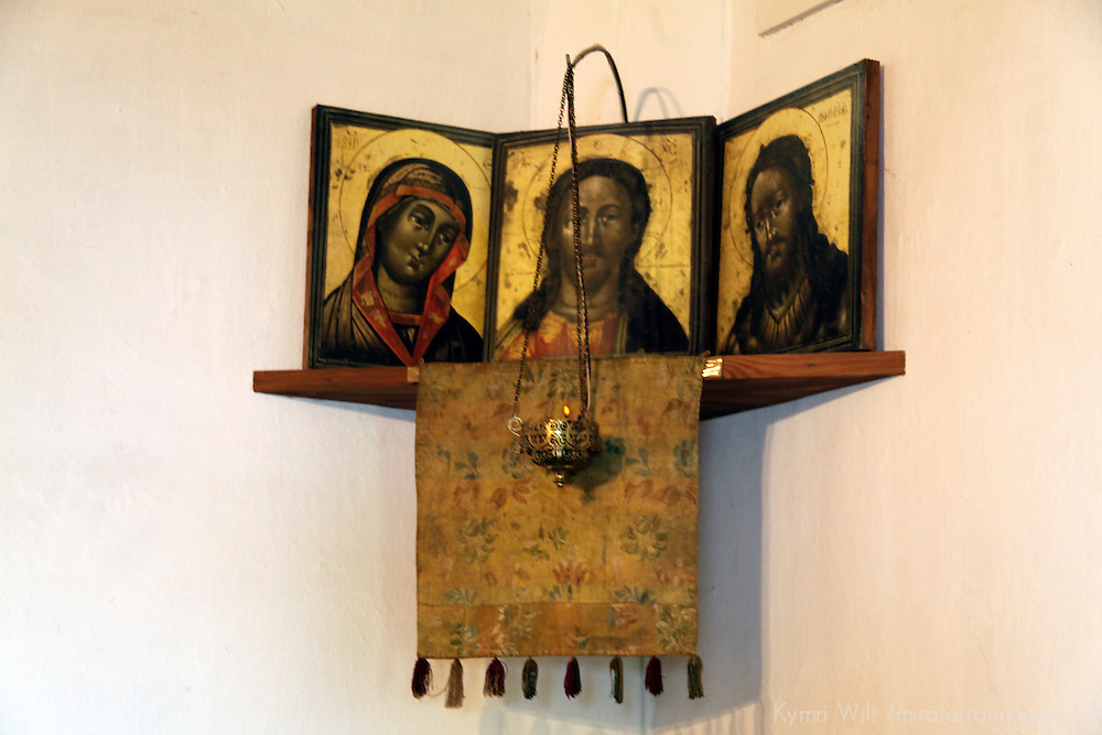 Europe, Russia, Suzdal. Icons of Pokrovsky monastery.