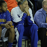 Delaware Forward Elena Delle Donne (Center) sits on the bench while suffering from a recurrence of Lyme disease during a regular season NCAA Women's basketball game Wednesday, Nov. 28, 2012 at the Bob Carpenter Center in Newark Delaware...Delaware would defeat Saint Bonaventure 68-58
