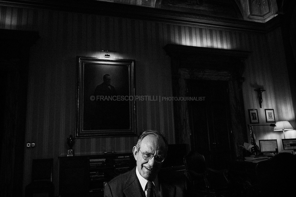 Pier Carlo Padoan - Minister of Economy and Finance of Italy - during an exclusive interview for POLITICO magazine (European Issue)